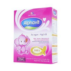 Alphavit Ăn Ngon Ngủ Tốt Usa Pharma (Hộp 4 Vỉ x 5 Ống)