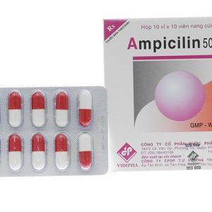 Ampicilin 500 Vidipha (Hộp 100 Viên)