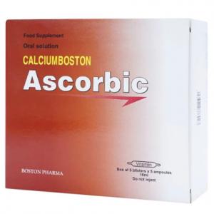 Ascorbic 5X5 Ống 10Ml Boston (Dung Dịch Uống)
