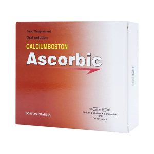 Ascorbic 5X5 Ống 10Ml Boston (Dung Dịch Uống) (Hộp 5 Vỉ x 5 Ống)