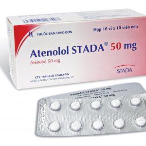 Atenolol 50 hộp 100v Stada (Hộp 10 vỉ x 10 viên)