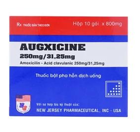 Augxicine 250Mg31.25Mg New Jersey 10 Gói X 0.8G
