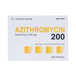 Azithromycin 200 Hậu Giang (Hộp 24 gói x 1,5 g)