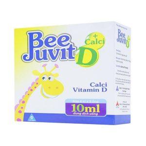 Bee Juvit Canxi + Vitanmin D 4X5 (Hộp 4 Vỉ x 5 Ống)
