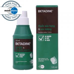 Betadine Súc họng Mundipharma 125ml (Chai)