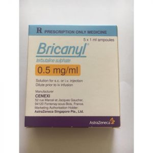 Bricanyl 0.5 Mg/ml (1 Vỉ X 5 ỐNG)