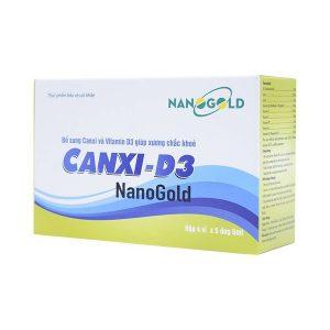 Canxi-D3 Nanogold - Bổ Sung Canxi Và Vitamin (Hộp 4 Vỉ x 5 Ống)