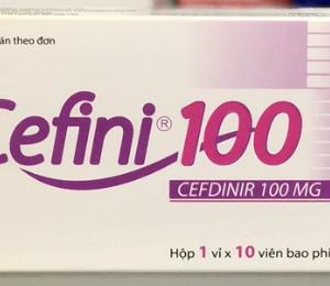 Cefini 100 (1 Vỉ x 10 Viên)