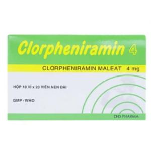 Clorpheniramin 4 (Hộp 10 Vỉ x 20 Viên)