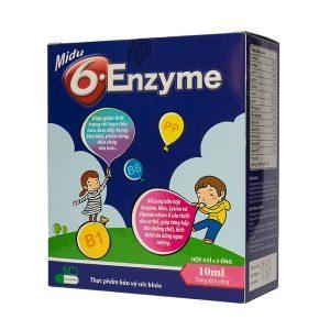 Enzyme 6 Midu 4X5 Ống 10Ml (Hộp 4 Vỉ x 5 Ống)