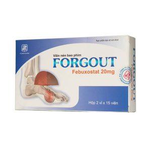 Forgout 20Mg - Dp Tw3 - 2X15 (Hộp 2 Vỉ x 15 Viên)