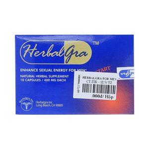 Herbalgra For Men - Tăng Cường Sinh Lý Nam Giới (Hộp 5 Gói x 2 Viên)