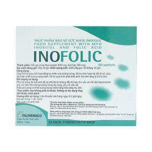 Inofolic Italfarmaco 20 Sachets - Thực Phẩm Bảo Vệ Sức Khỏe (Hộp)