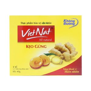 Kẹo Gừng Vietnat H-20V (Hộp 5 Vỉ x 4 Viên)