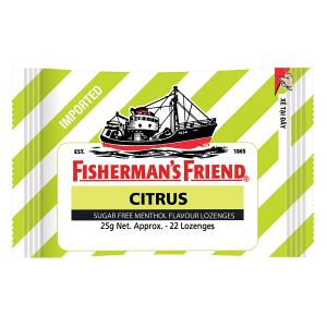 Kẹo con tàu Citrus ngậm không đường (gói) 22v