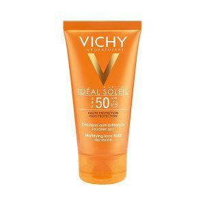 Kem Chống Nắng Không Gây Nhờn Rít Vichy Idéal Soleil Mattifying Face Fluid Dry Touch Spf 50 50Ml (Hộp)