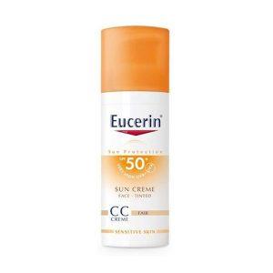 Kem Chống Nắng Trang Điểm Eucerin Sun Creme Face Tinted Cc Fair Spf 50+ Uvb+Uva 50Ml (Tuýp)