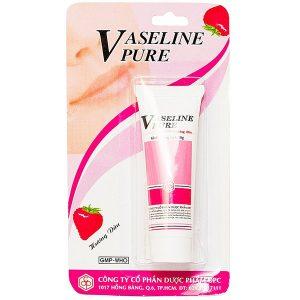 Kem Dưỡng Ẩm Vaseline Pure Hương Dâu 10G (Tuýp)