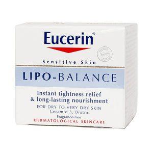 Kem Dưỡng Cho Da Khô Đến Rất Khô Eucerin Sensitive Skin Lipo - Balance 50Ml (Hộp)