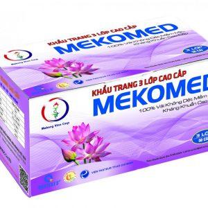 Khẩu trang 3 lớp tím Mekomed (hộp 50 chiếc)