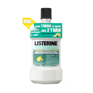 Listerine Healthy Bright 750Ml (Chai)