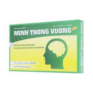 Minh Thông Vương - Giảm Xơ Vữa Động Mạch, Tai Biến (Hộp 2 Vỉ x 10 Viên)