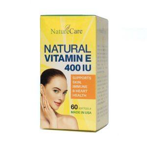 Natural Vitamin E 400Iu Naturecare 60V