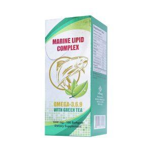 Omega 3 6 9 With Tea Marine Lipid Complex 100V (Trà Xanh) (Hộp)