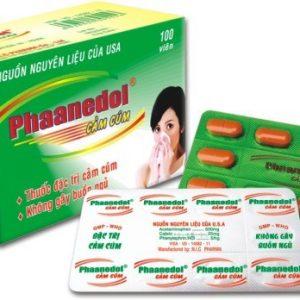 Phaanedol Cảm Cúm (Hộp 100v) NIC