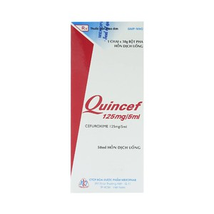 Quincef 125mg/5ml - 50ml MKP (Lọ)