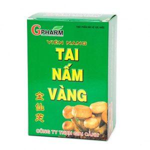 Tai Nấm Vàng - Giải Pháp Tăng Sức Đề Kháng Cho Gan (Hộp 3 Vỉ x 10 Viên)