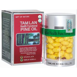Tamlan Health Functional Pine Oil (Dầu Thông Đỏ) 100V (Hộp)