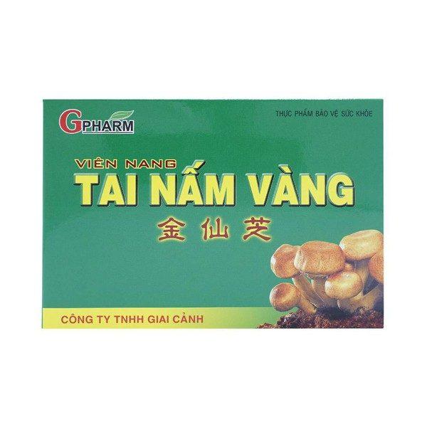 Viên Nang Tai Nấm Vàng - Tăng Cường Chức Năng Gan (Hộp 6 Vỉ x 10 Viên)