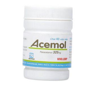 Acemol 325 Nadypahr (Chai 40 viên)