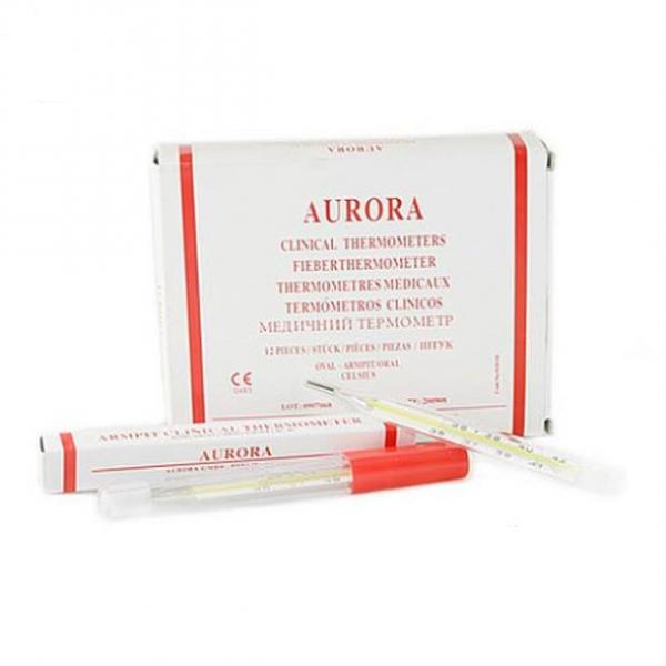 Nhiệt kế thủy ngân – Aurora (Hộp/12 cây)