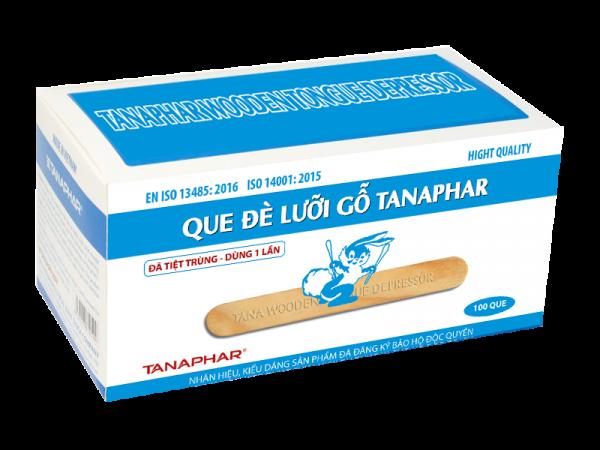 Que đè lưỡi gỗ TANAPHAR (hộp 100 que)
