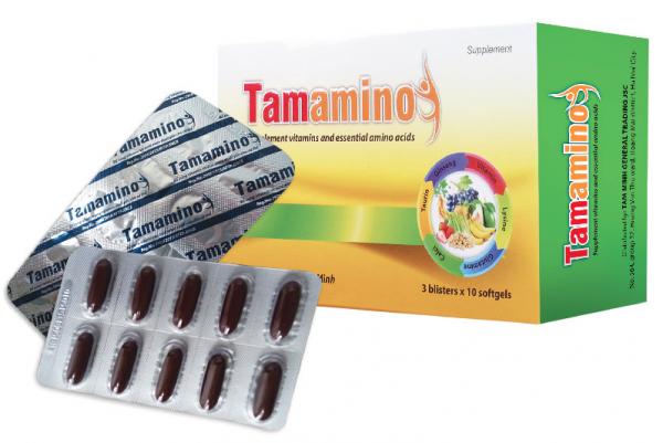 Tamamino - Bổ sung dinh dưỡng toàn diện cho người ăn kém, sau phẩu thuật (3 Vỉ x 10 Viên)