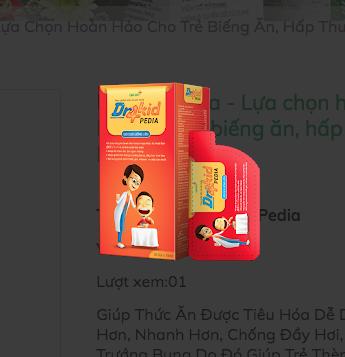 Dr4kid Pedia - Lựa chọn hoàn hảo cho trẻ biếng ăn, hấp thu kém (10ml, 15ml, 18ml, 20ml, 25ml/ gói)