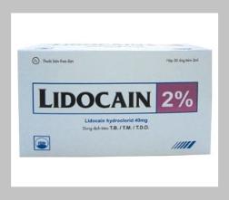 LIDOCAIN 2% (Hộp 50/ 100 ống x 2 ml)