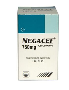 NEGACEF 750 mg (Hộp 1 lọ/ Hộp 10 lọ x 750 mg)