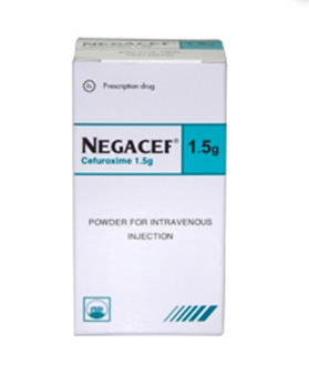 NEGACEF 1.5 g (Hộp 1 lọ/ Hộp 10 lọ x 1.5 g)
