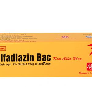 Sulfadiazin Bạc 1% 20mg (Hộp 1 tuýp x 20mg)