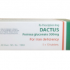 DACTUS Ferrous gluconate 300mg (Hộp 5 vỉ x 10 viên)